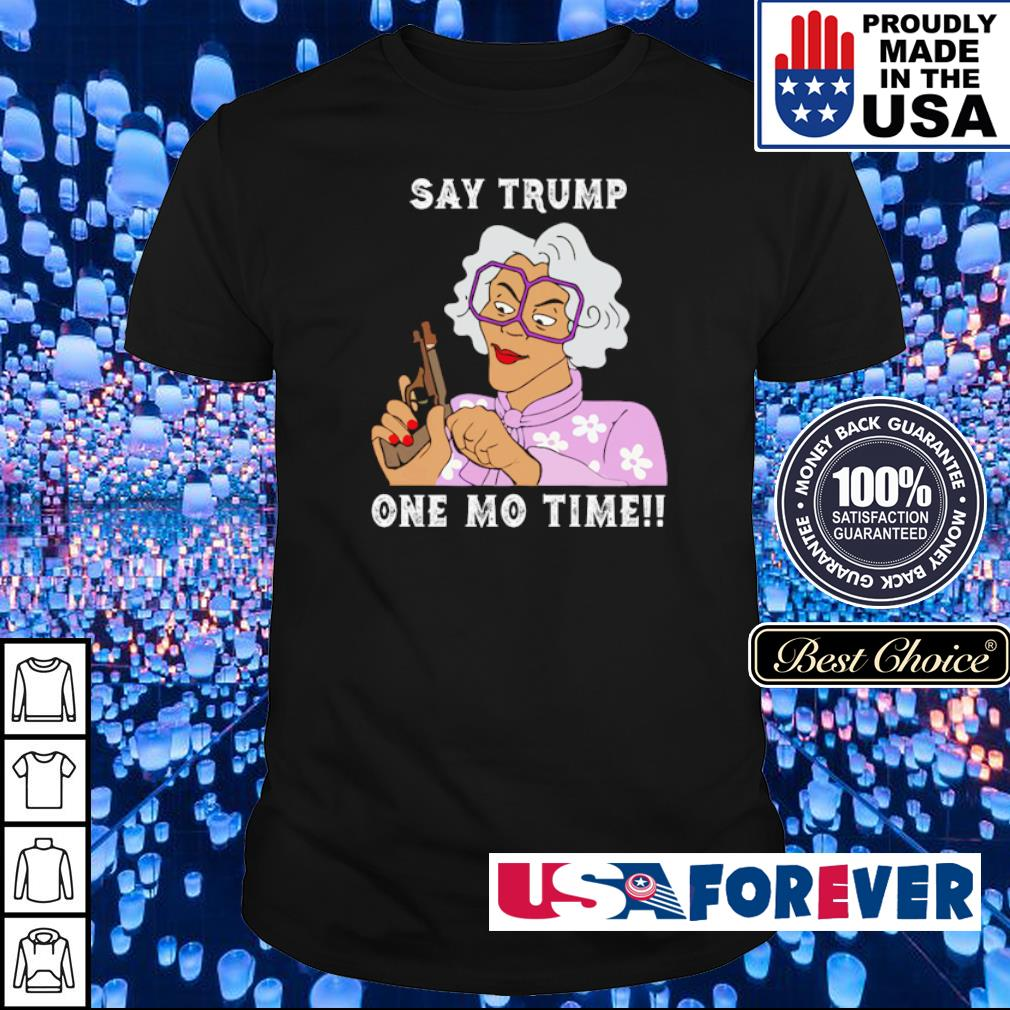 Grandma hoding gun say Trump one mo time shirt