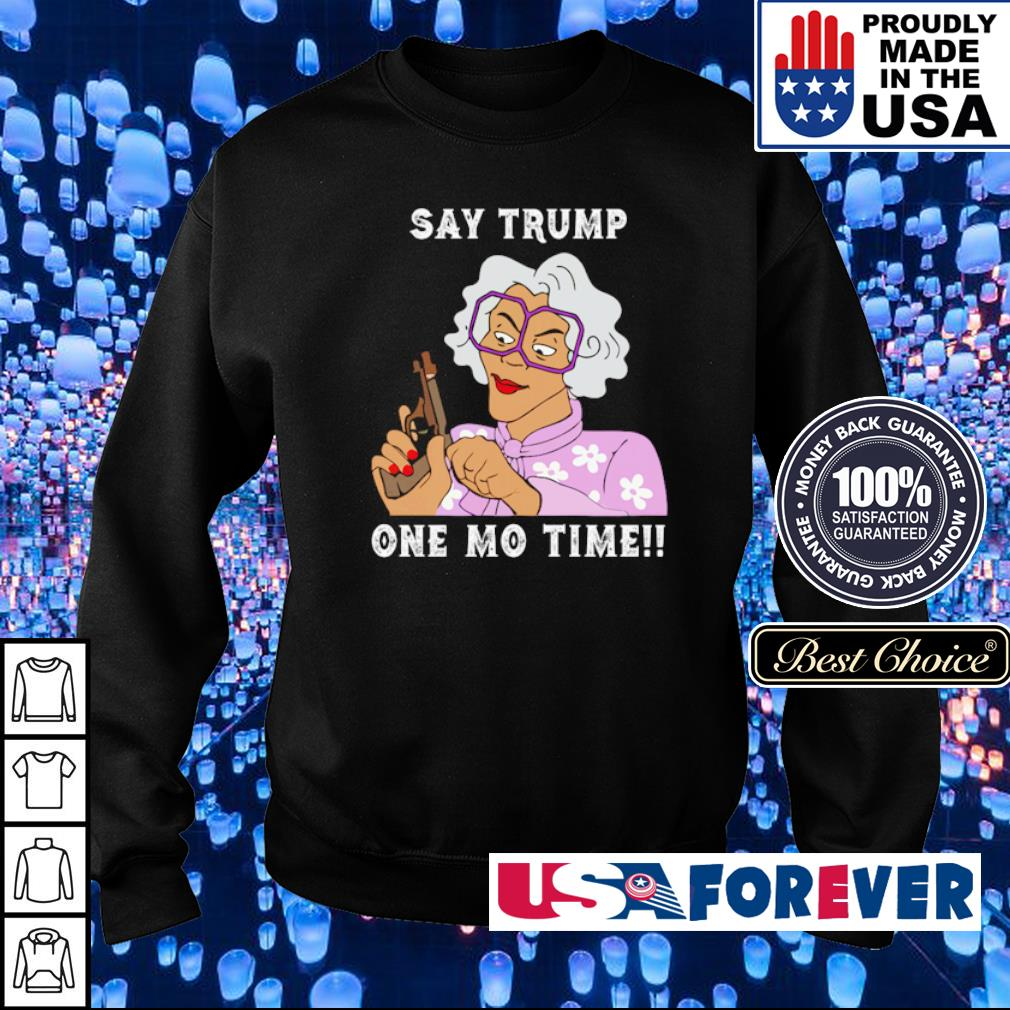 Grandma hoding gun say Trump one mo time s sweater
