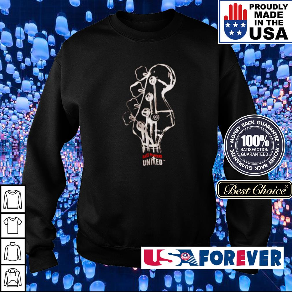 Guittar bass players United s sweater