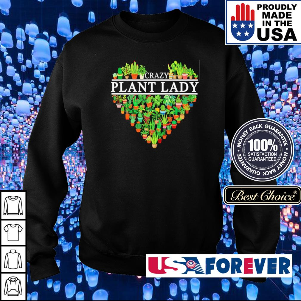 Heart Crazy Plant Lady s sweater