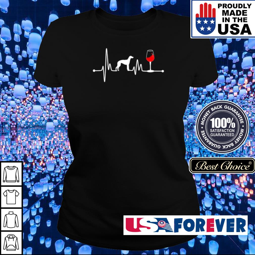 Heartbeat Ekg Pulse Greyhound And Wine s ladies