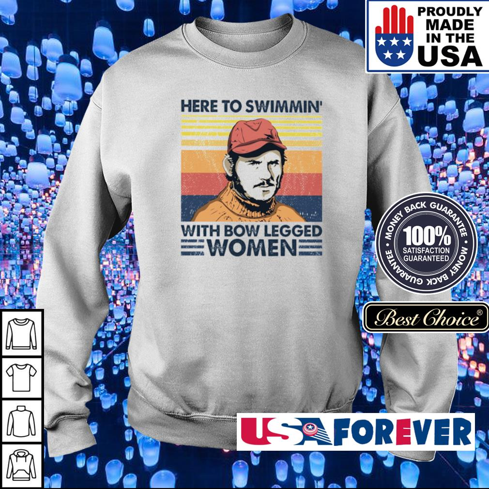 Here to swimmin' with bow legged women vintage s sweater