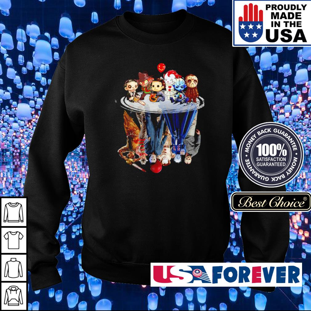 Horror chibi characters mirror reflection s sweater