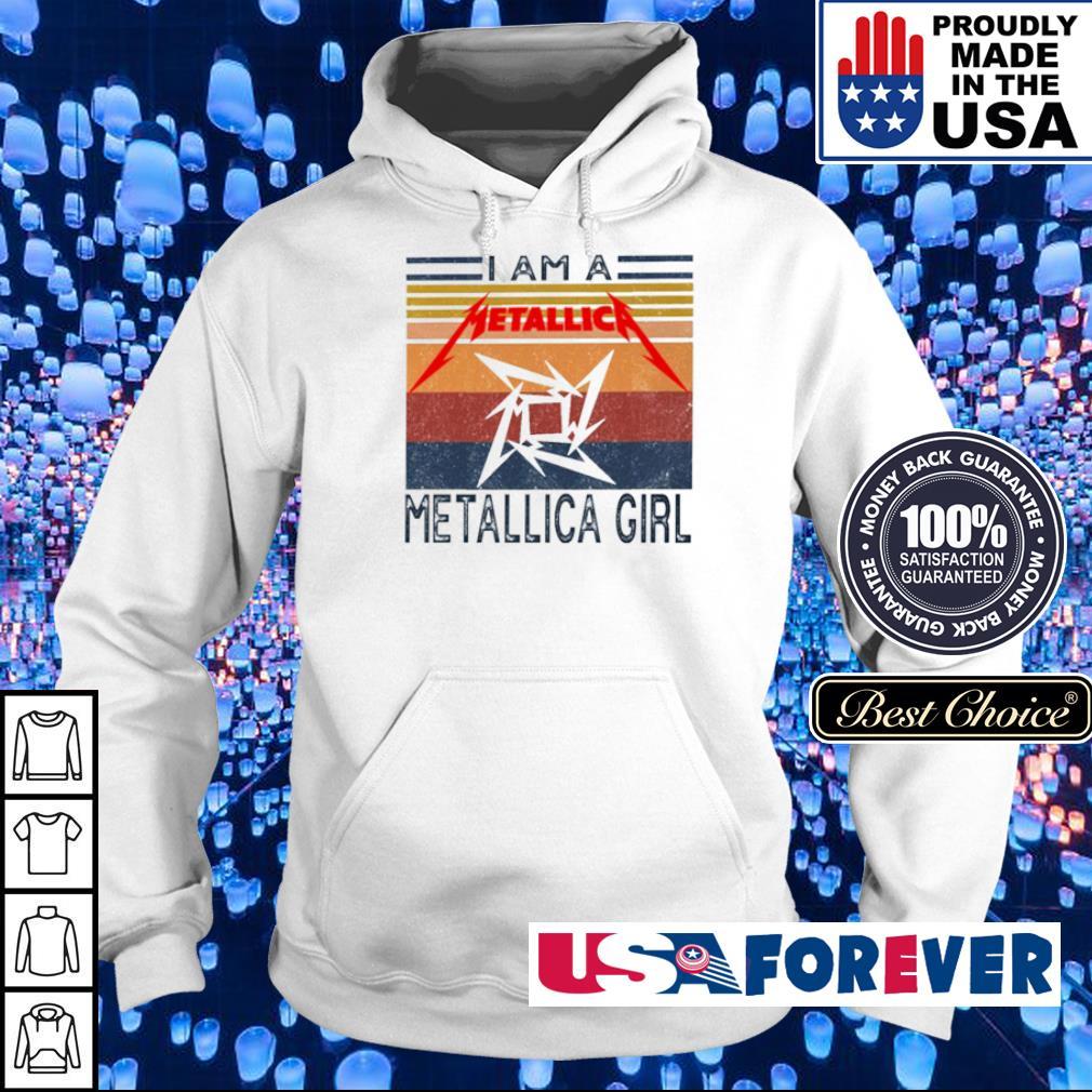 I am a Metallic Girl vintage s hoodie