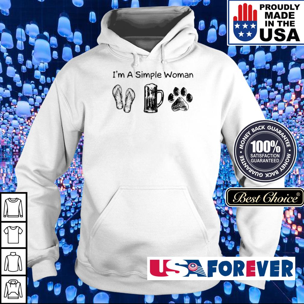 I'm a simple woman flop beer and bear s hoodie