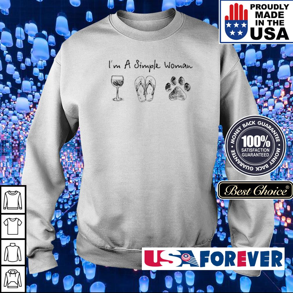 I'm a simple woman wine flip dog paws s sweater