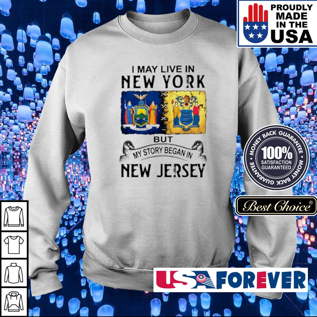 I may live in New York but my story began in New Jersey s sweater
