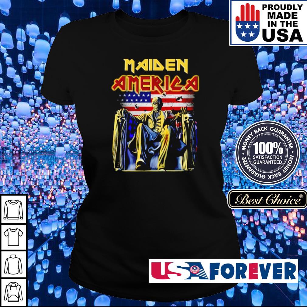 Iron Maidn America Flag s ladies