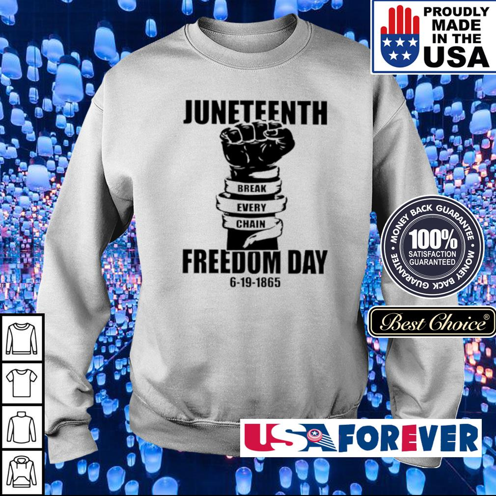 Juneteenth Break Every Chain freedom day 6-19-1865 s sweater