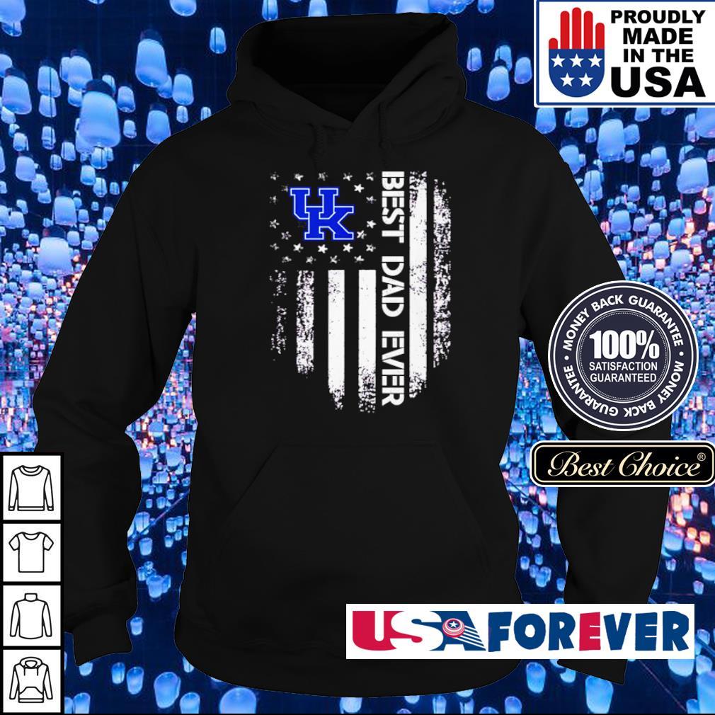 Kentucky Wildcats American Flag best dad ever s hoodie