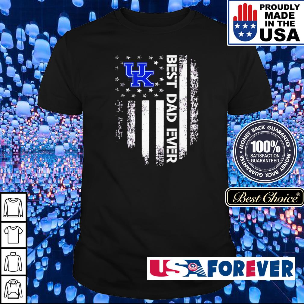 Kentucky Wildcats American Flag best dad ever shirt