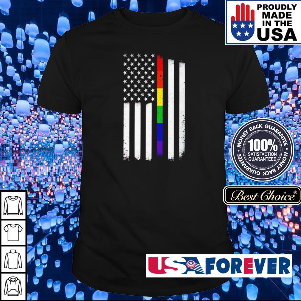 LGBT Pride American Flag shirt