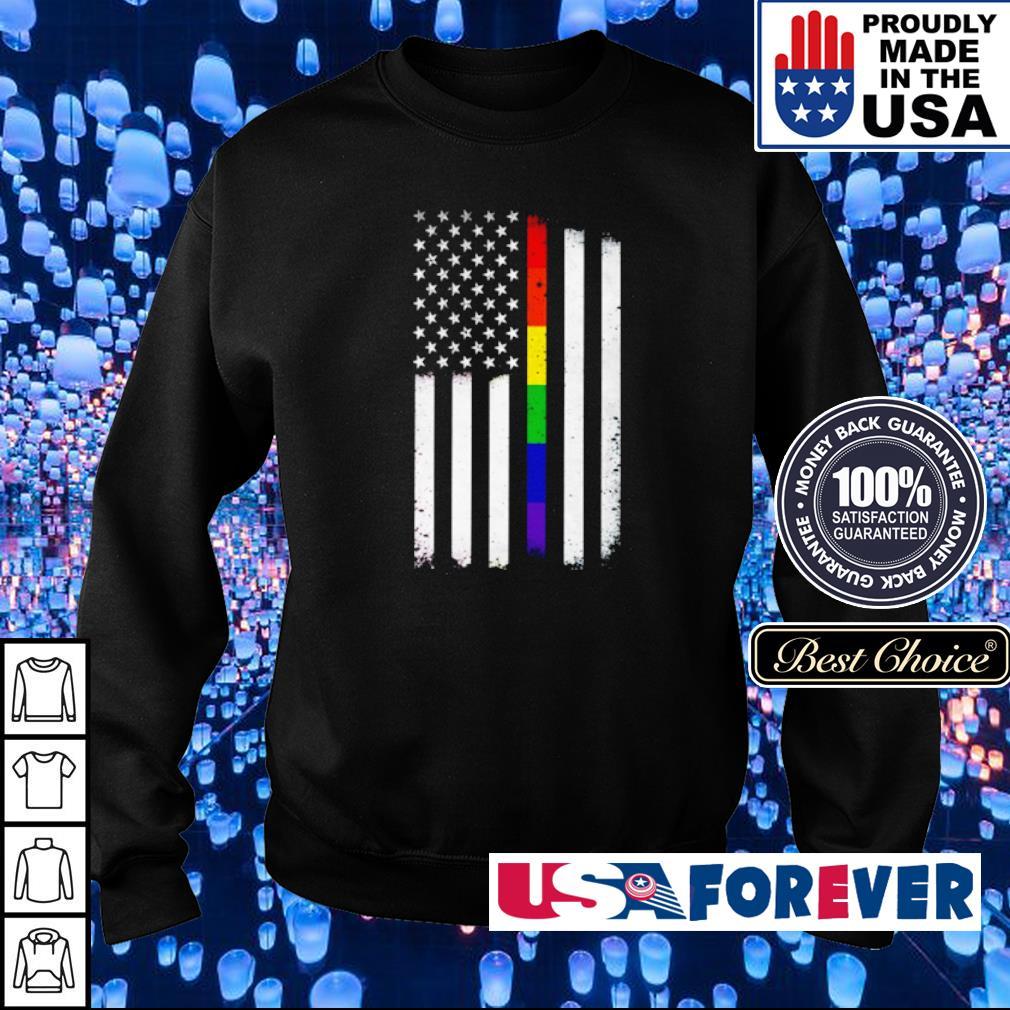 LGBT Pride American Flag s sweater