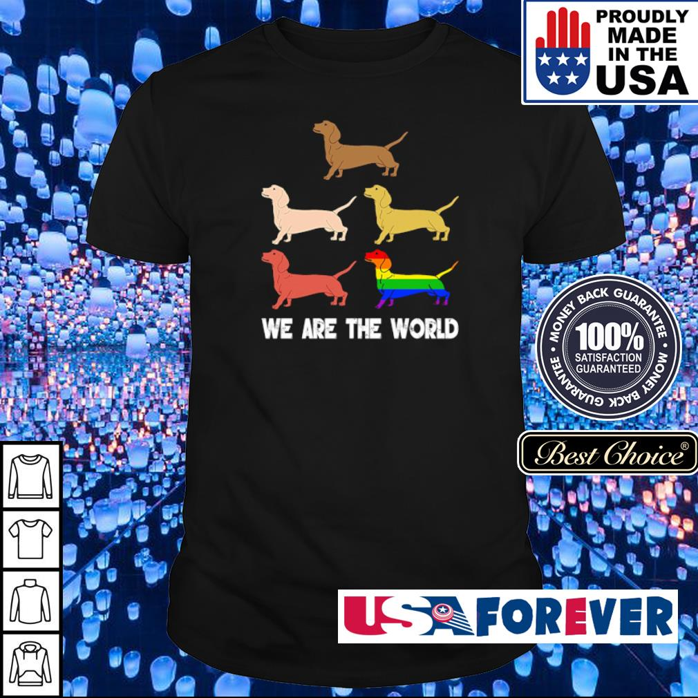 LGBT pride dogs we are the world shirt