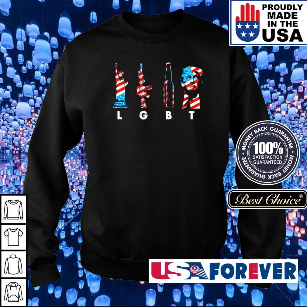 LGBT Pride Gun Beer and Donald Trump s sweater
