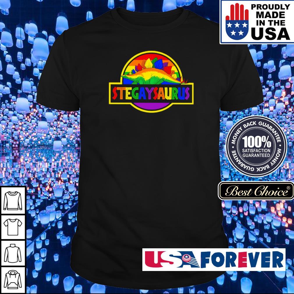 LGBT Pride Stegaysaurus shirt
