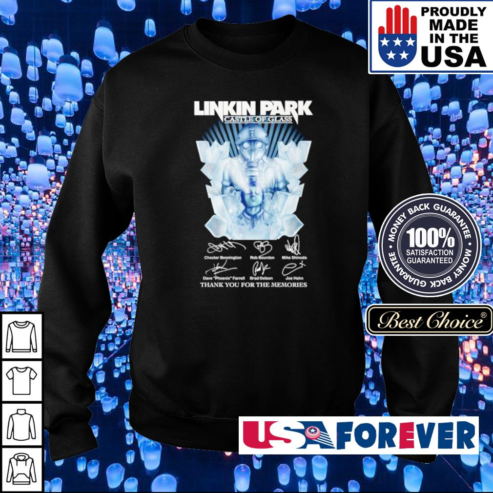 Linkin Park castle of glass thank you for the memories signatures s sweater
