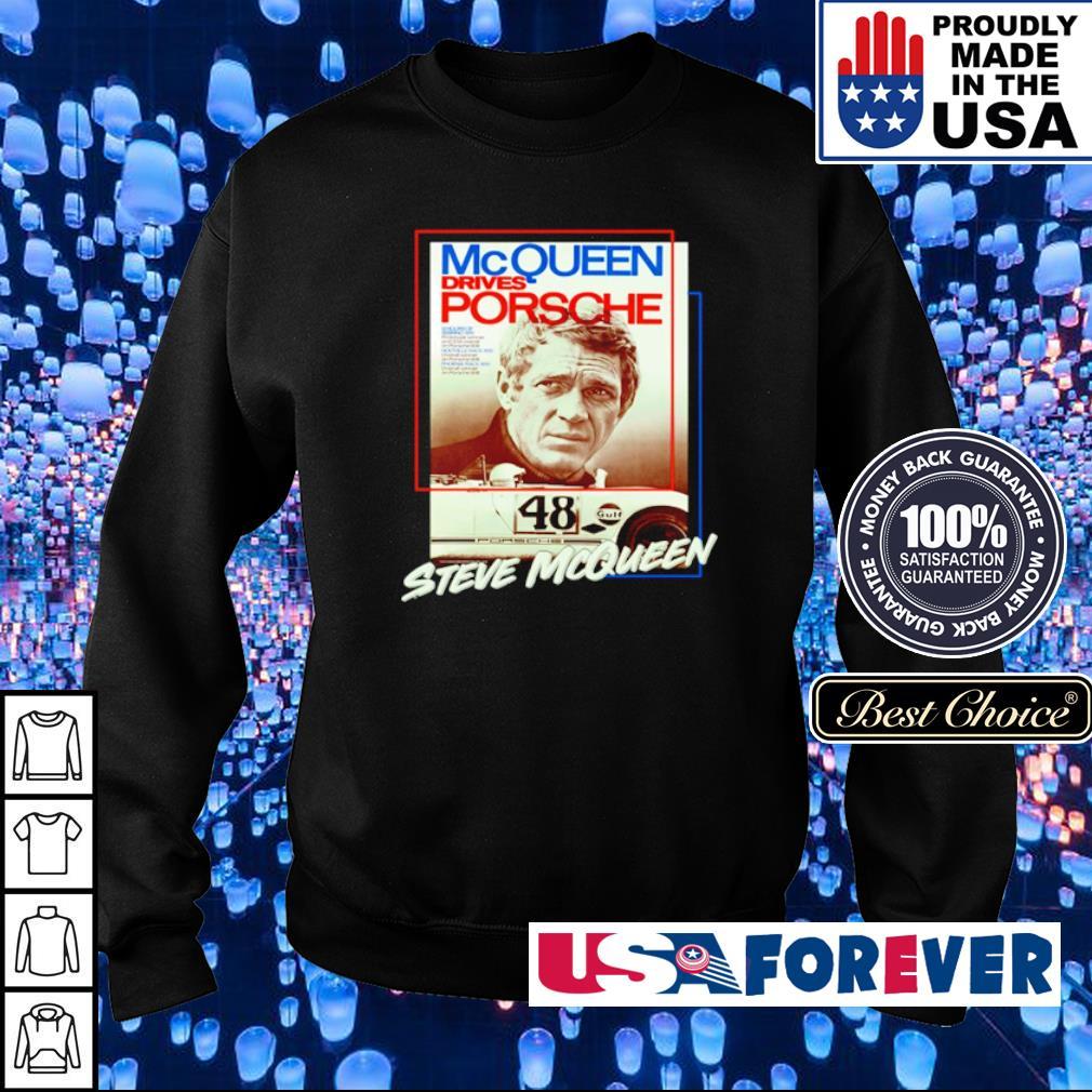 McQueen drives Porsche 48 Steve McQueen s sweater