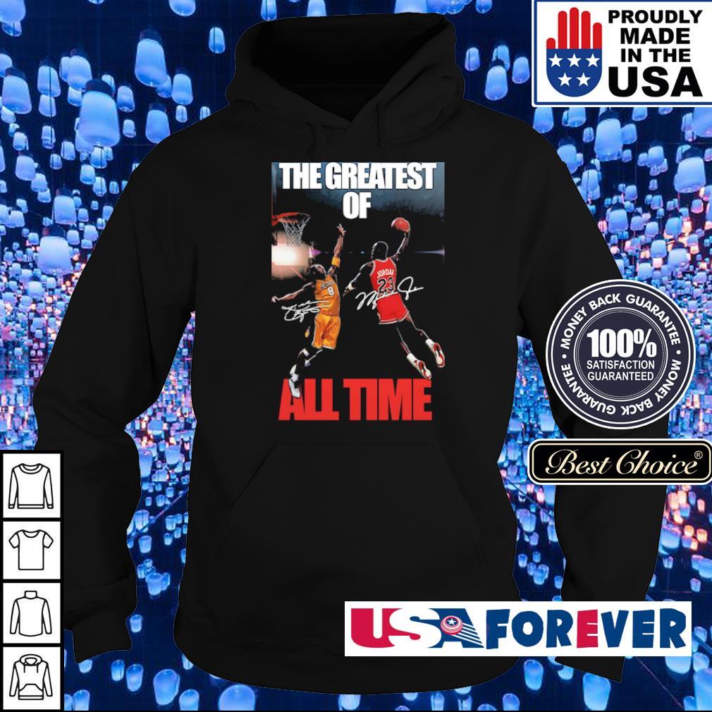 Michael Jordan Kobe Bryant the greatest of all time signatures s hoodie