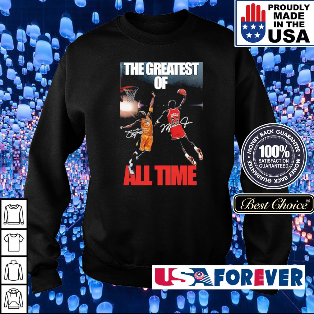 Michael Jordan Kobe Bryant the greatest of all time signatures s sweater