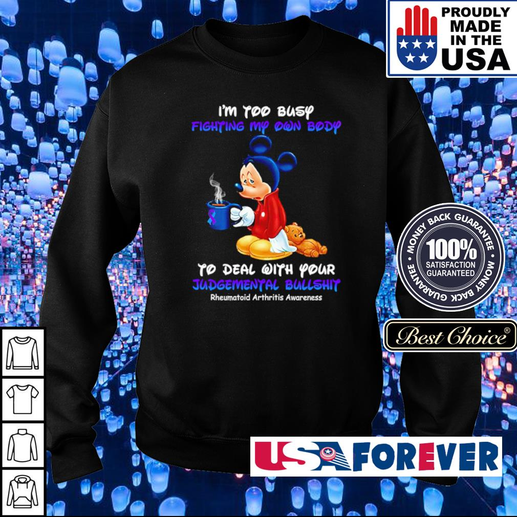 Mickey Mouse I'm too busy fighting my own body to deal with your judgemental bullshit s sweater