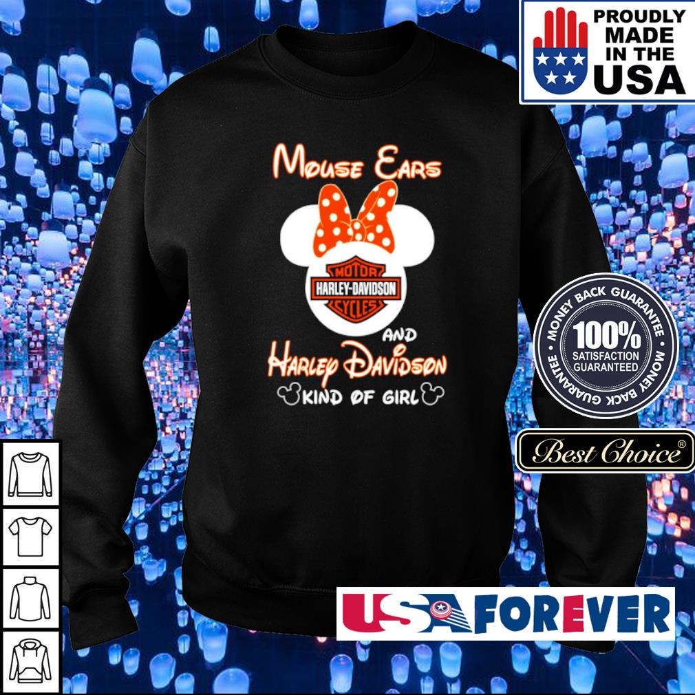 Mouse Ears and Harley Davidson kind of girl s sweater