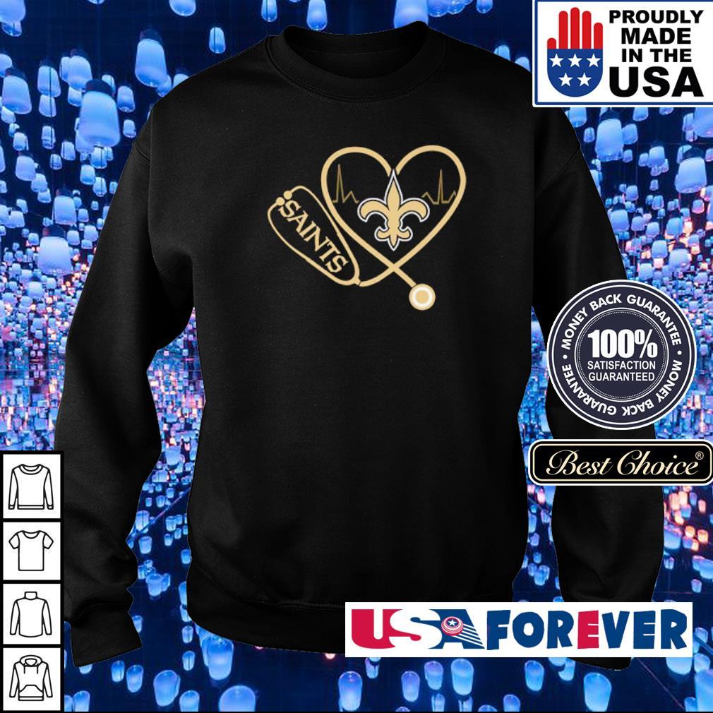 Nurse love New Orleans Saints s sweater