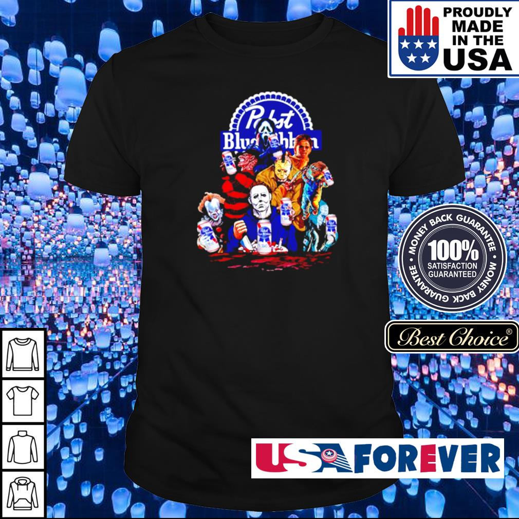 Pabst blue ribbon Hornor movie characters shirt