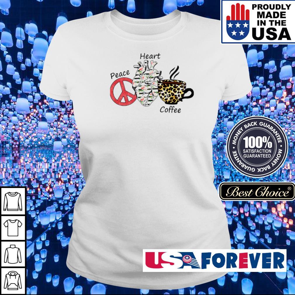 Peace Heart Coffee Flowers Leopard s ladies