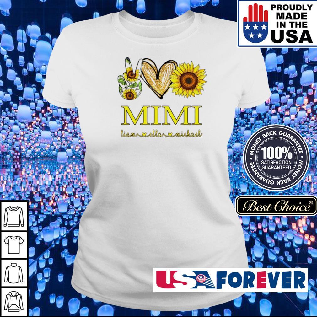 Peace love sunflower Mimi Liam and Ella Michael s ladies