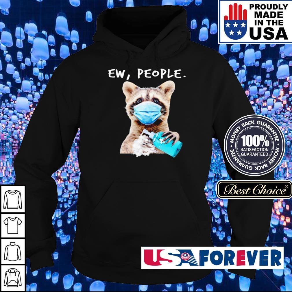Racoon wearing mask washing hand ew people s hoodie