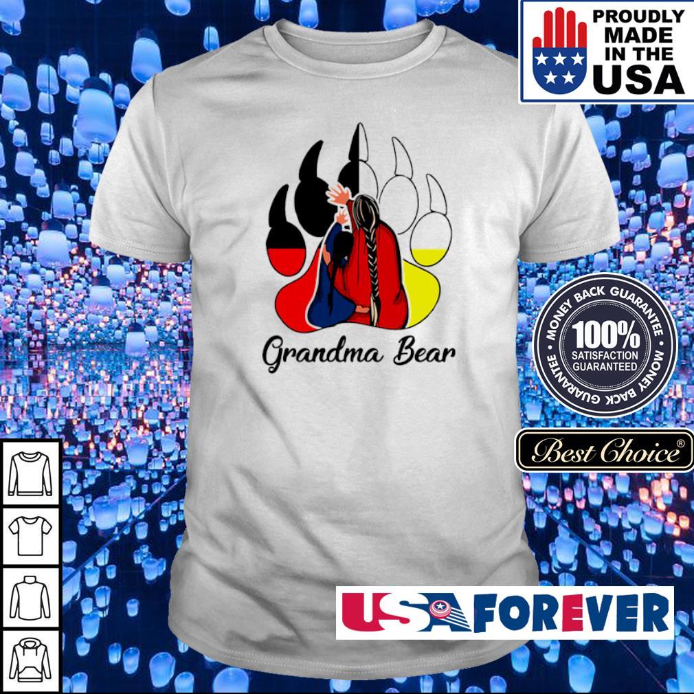 Red Indian Grandma bear shirt
