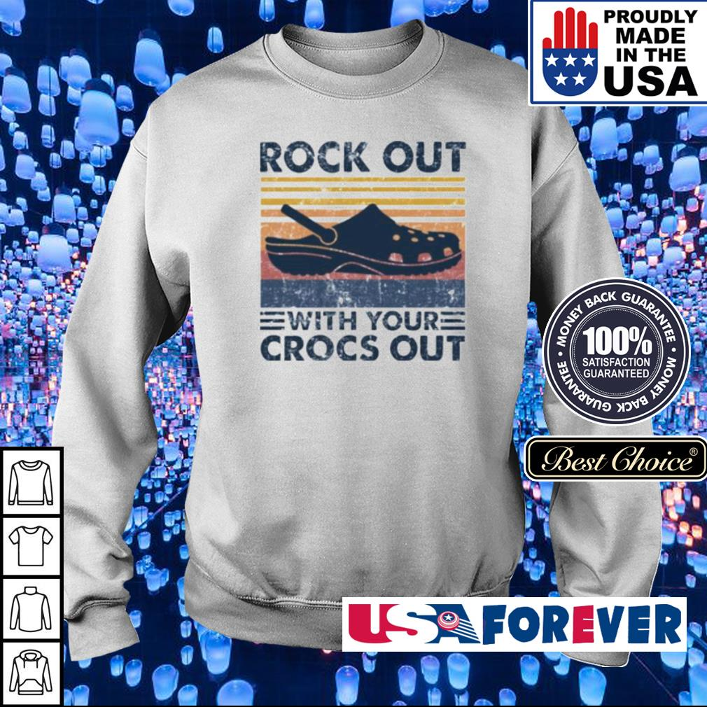 Rock out with your crocs out vintage s sweater