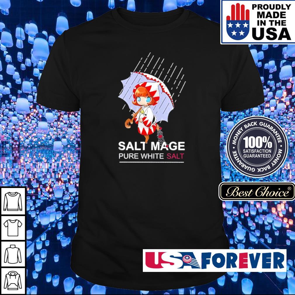 Salt mage pure white salt shirt