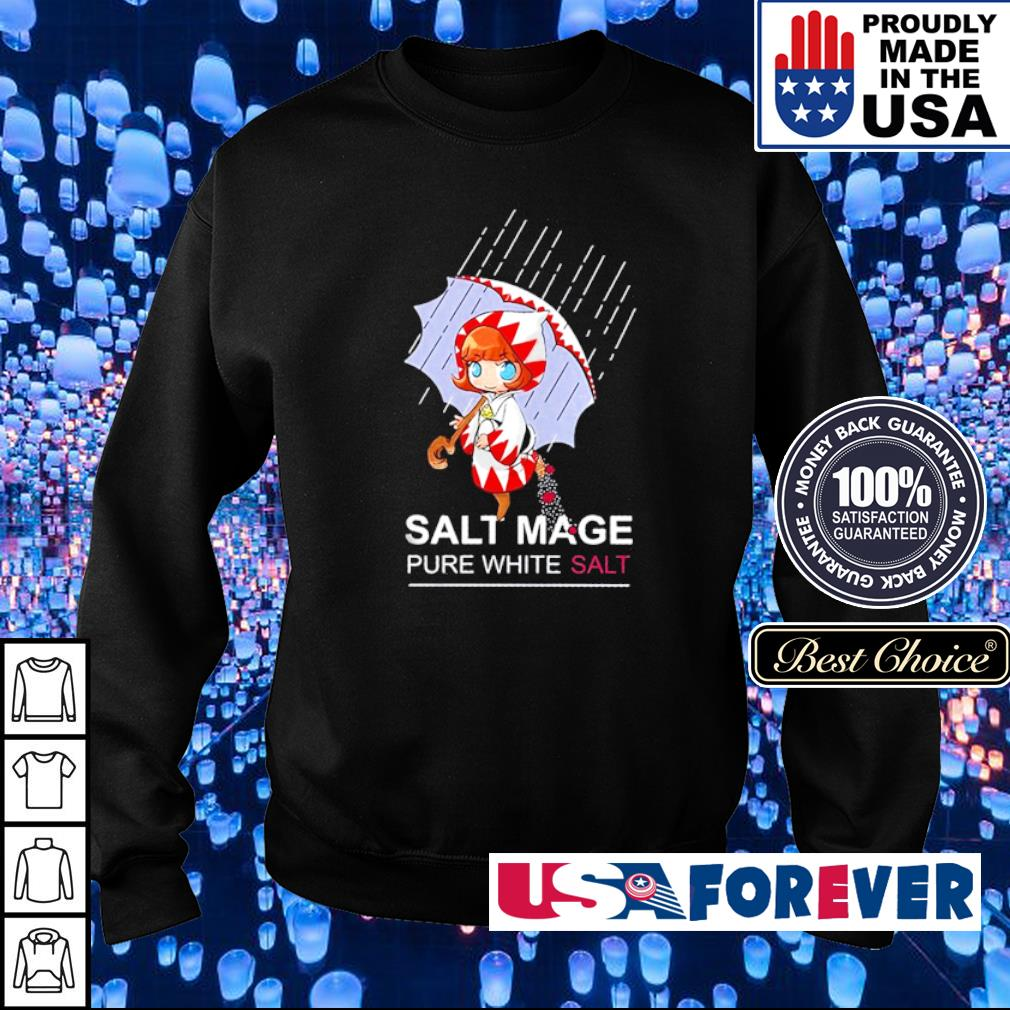 Salt mage pure white salt s sweater