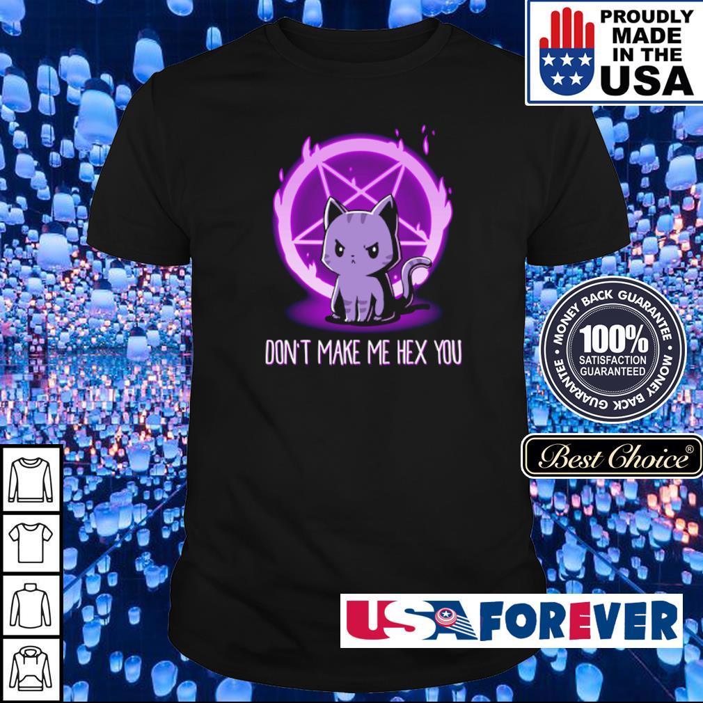 Satan cat don't make me hex you shirt