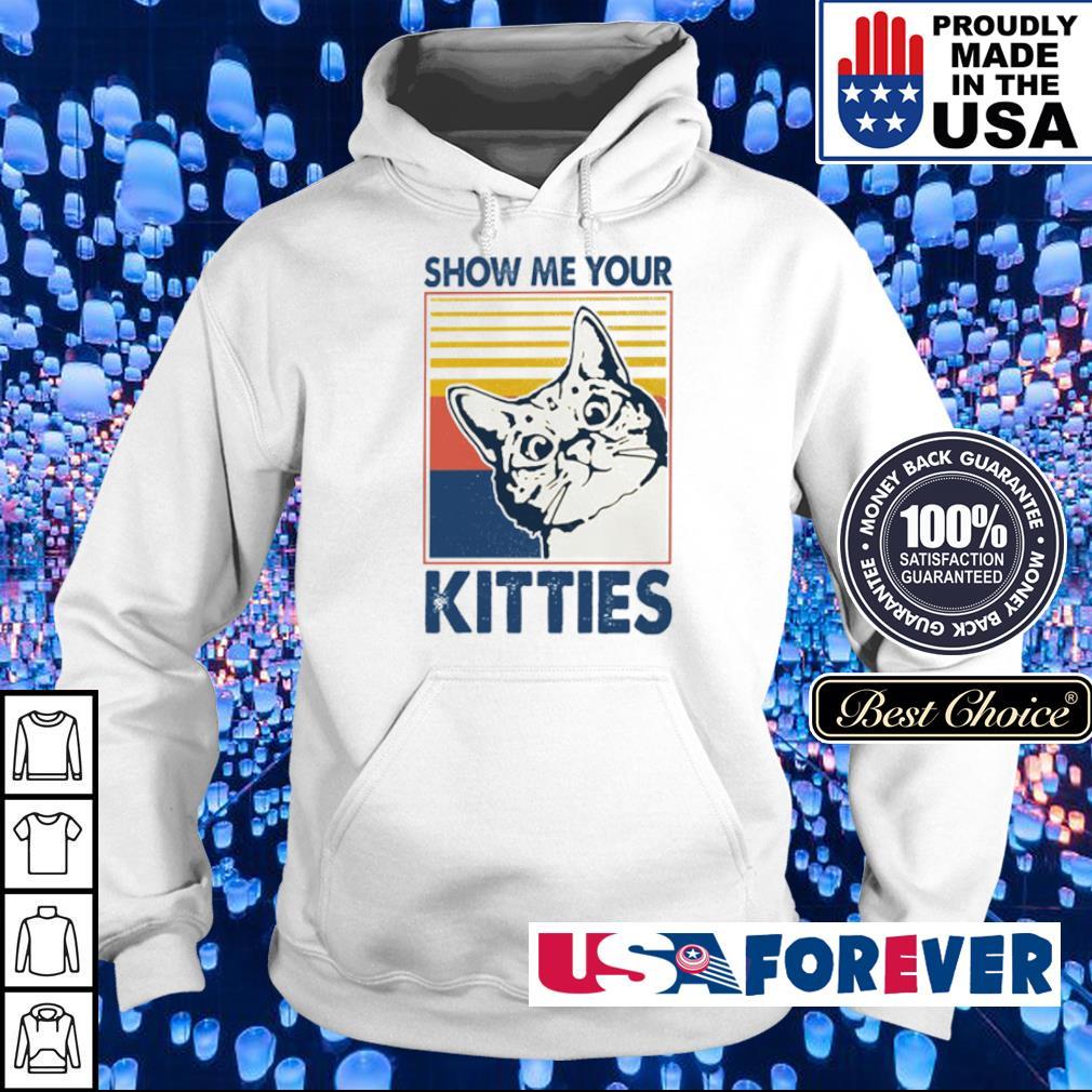 Shoe me your kitties vintage s hoodie