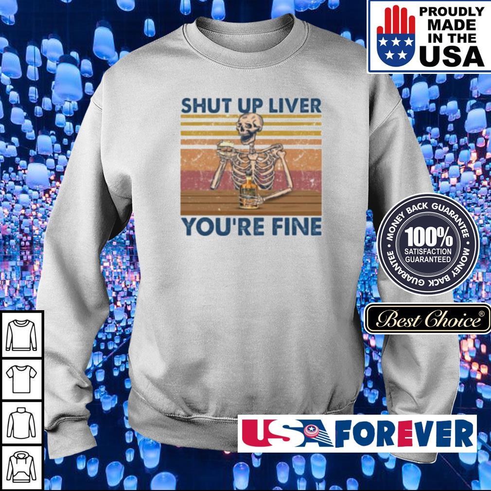 Skeleton shut ut liver you're fine s sweater