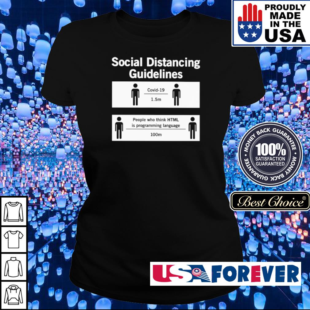 Social distancing guidelines covid-19 1.5m people who think HTML is programming language 100m s ladies