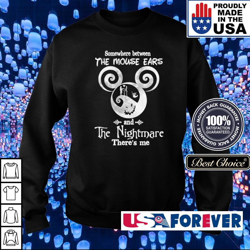 Somewhere between the mouse ears and the nighmare there's me s sweater