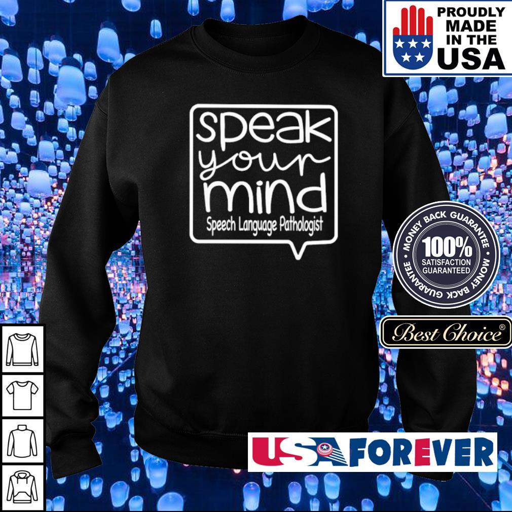 Speak your mind speech language pathologist s sweater