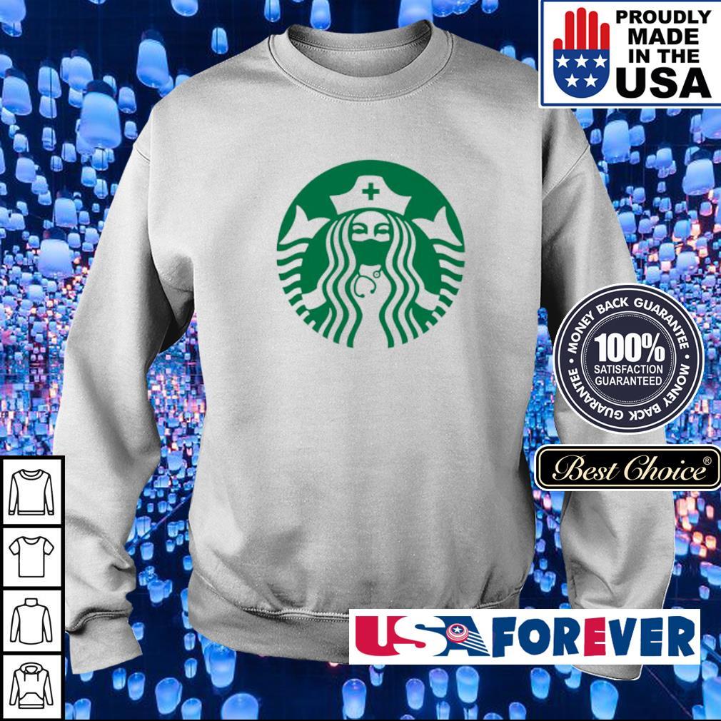 Starbucks nurse wearing mask s sweater