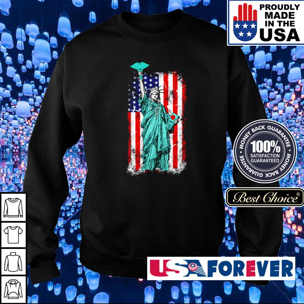 Statue of Liberty American Flag s sweater