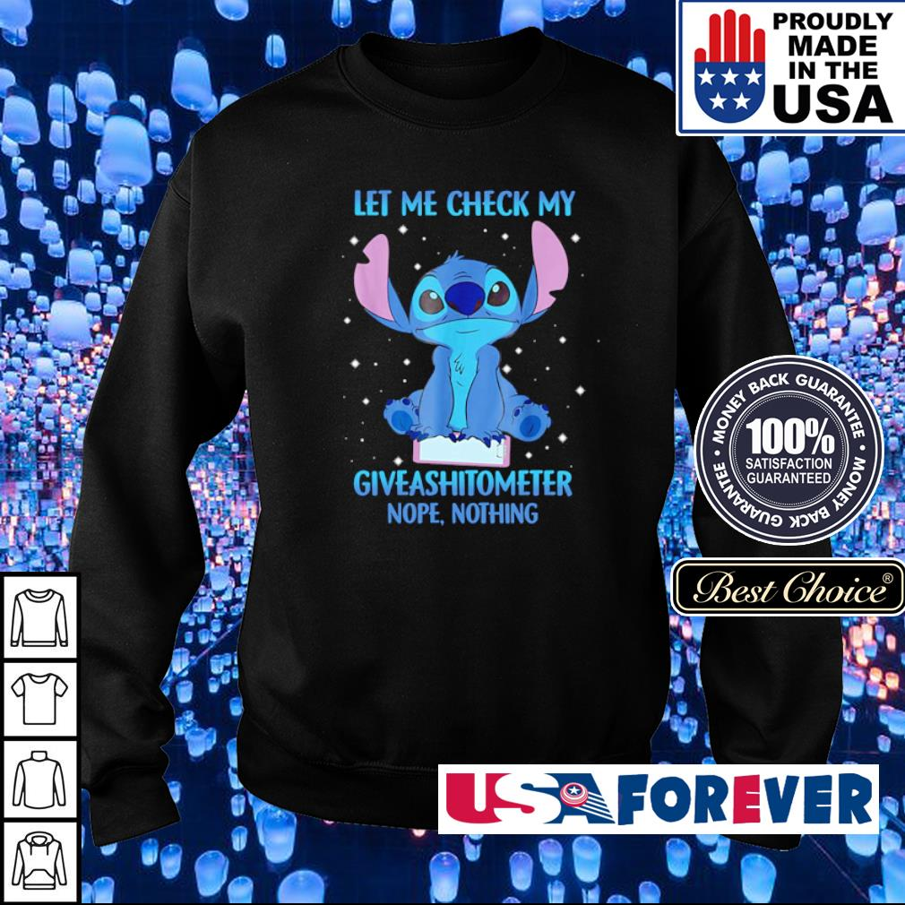 Stitch let me check my giveashitometer nope nothing s sweater