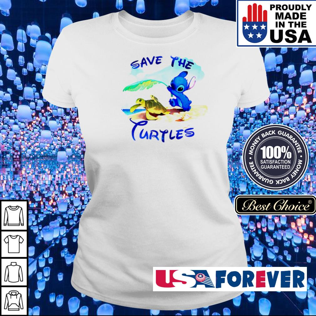 Stitch save the Turtles s ladies