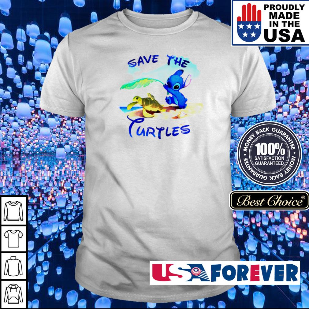 Stitch save the Turtles shirt