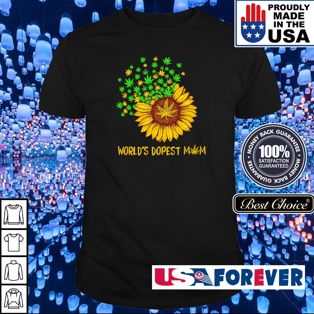Sunflower World's dopest Mom shirt