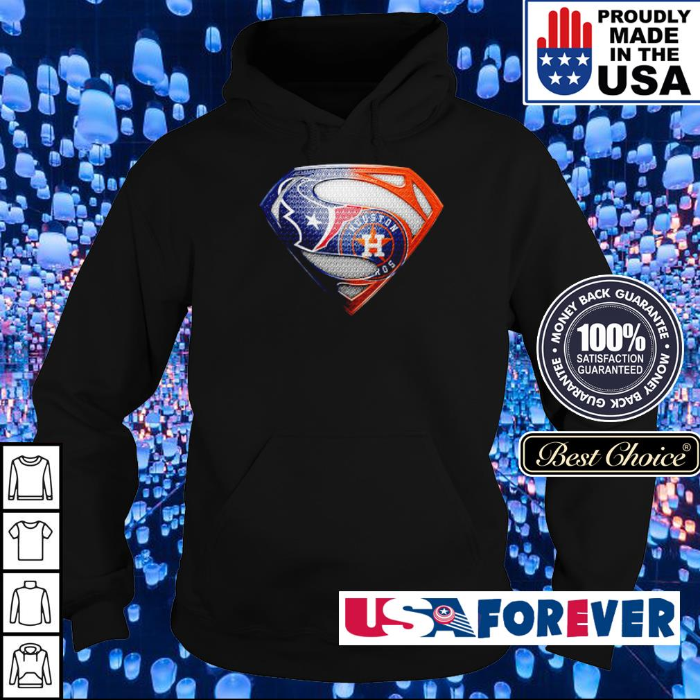 Superman Houston Texas vs Houston Astros s hoodie