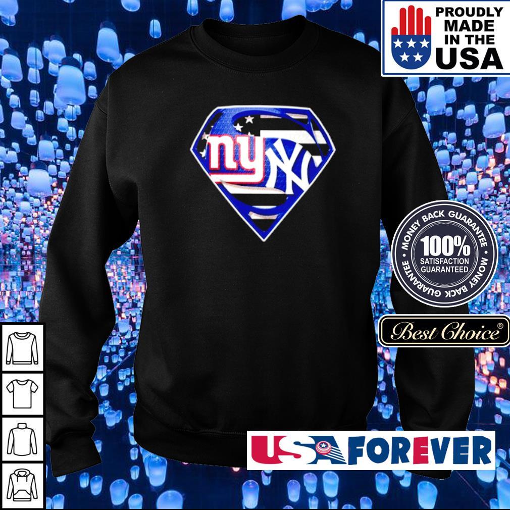 Superman New York Giants vs New York Yankees s sweater