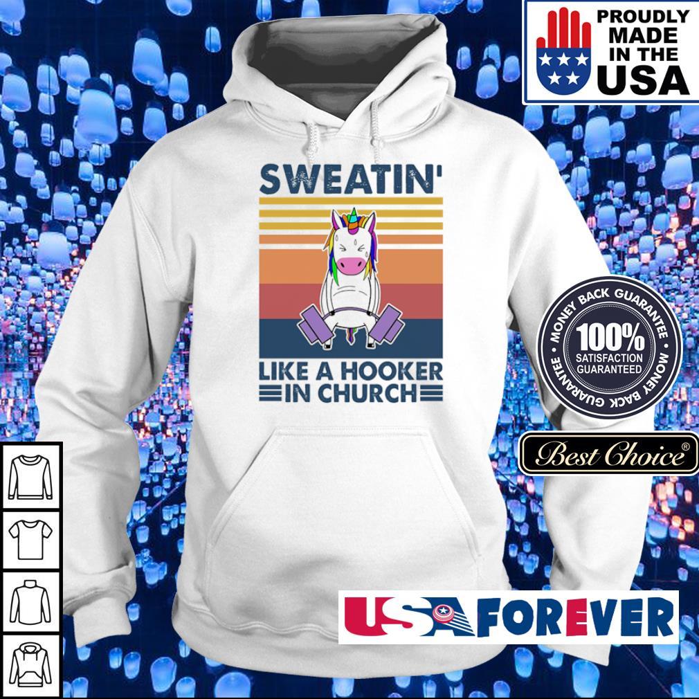Sweatin' like a hooker in church vintage s hoodie